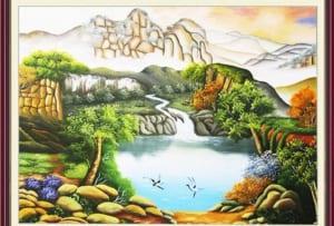 tranh phongoc canh thac nu