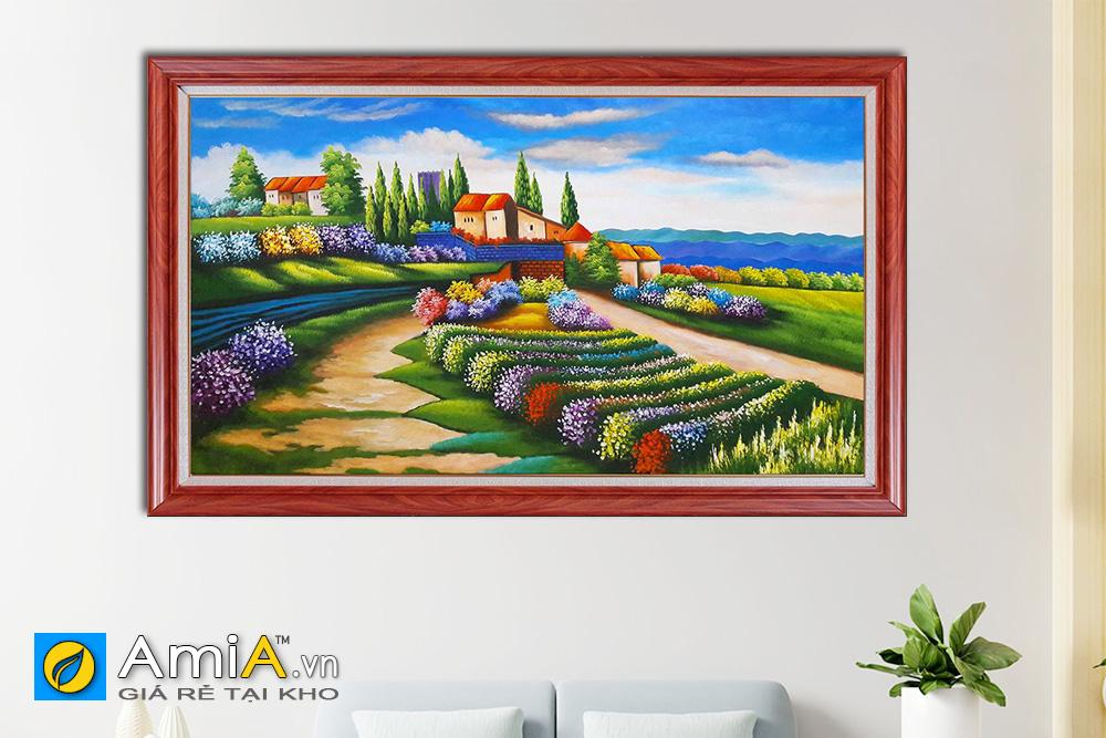 Hình ảnh Tranh sơn dầu phong cảnh châu Âu đẹp AmiA TSD 175