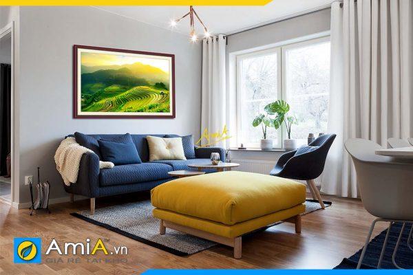 Hình ảnh Bức tranh phong cảnh ruộng bậc thang đẹp AmiA 1386