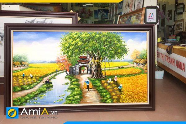 Hình ảnh Bức tranh sơn dầu làng quê Việt Nam chụp tại cửa hàng AmiA TSD 362