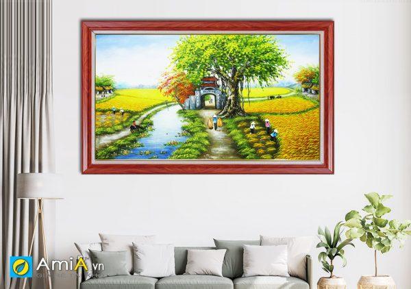 Hình ảnh Bức tranh sơn dầu phong cảnh quê hương Việt Nam AmiA TSD 362