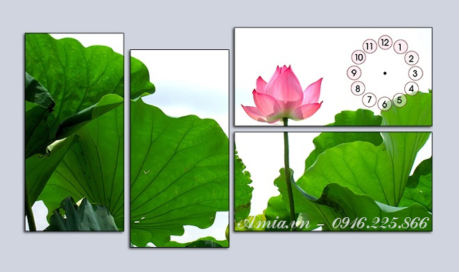 tranh bong hoa sen phong thuy ghep bo