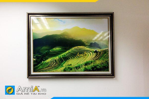 Hình ảnh Tranh phong cảnh ruộng bậc thang 1 tấm đẹp AmiA 1386
