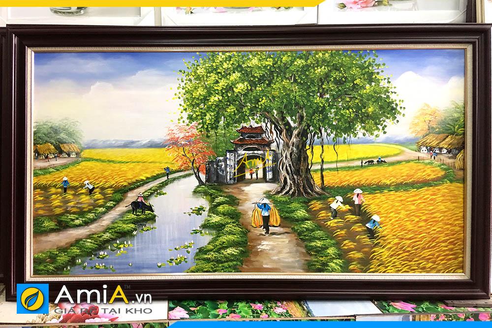 Hình ảnh Tranh sơn dầu làng quê đồng quê Việt Nam chụp tại cửa hàng AmiA TSD 362