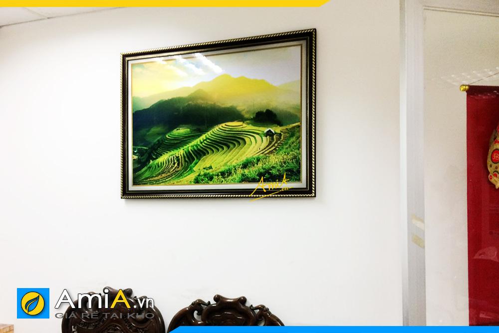 Hình ảnh Tranh treo phòng khách phong cảnh ruộng bậc thang AmiA 1386