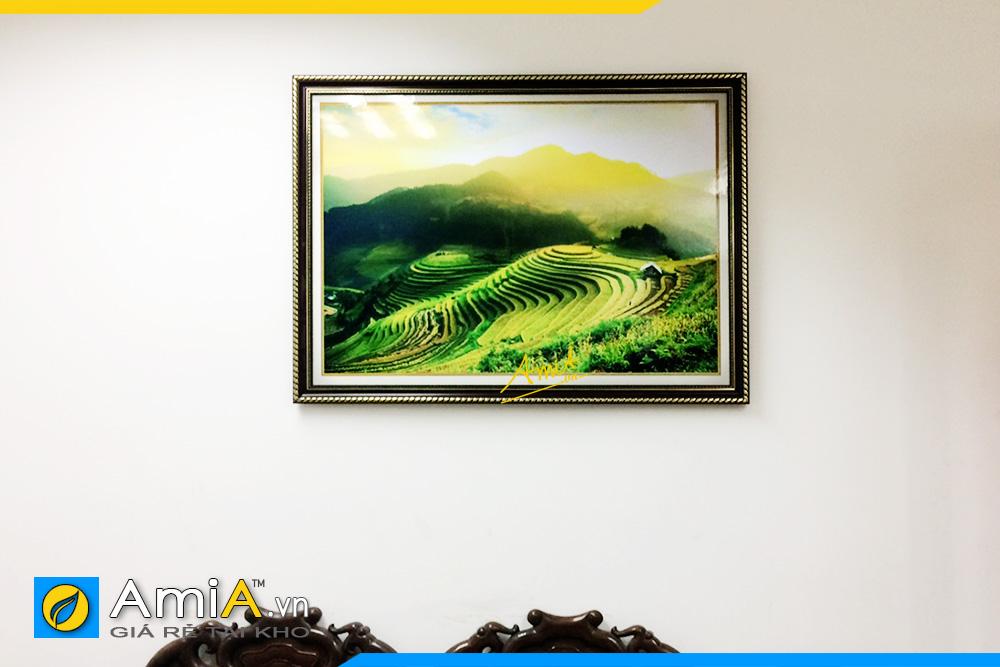 Hình ảnh Tranh treo tường đẹp phong cảnh ruộng bậc thang AmiA 1386