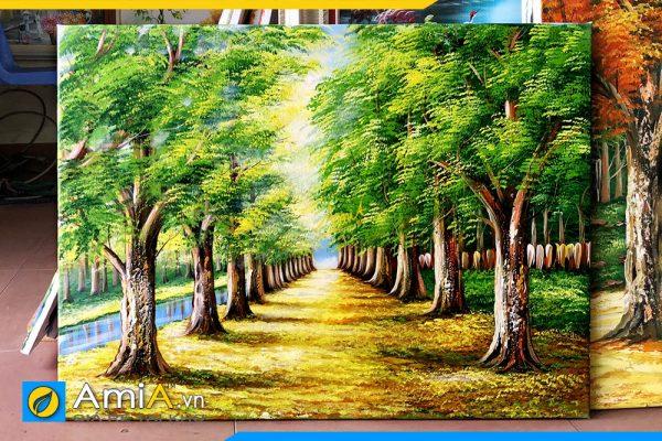 Hình ảnh Bức tranh sơn dầu phong cảnh hàng cây đẹp nghệ thuật AmiA TSD 383