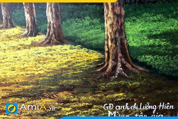 Hình ảnh Đặt vẽ tranh sơn dầu hàng cây theo yêu cầu AmiA TSD 383