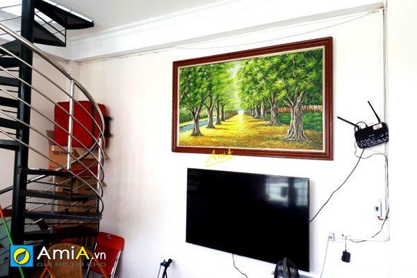 Hình ảnh Tranh phong cảnh hàng cây vẽ sơn dầu đẹp AmiA TSD 383