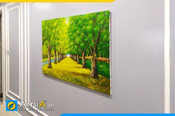 Hình ảnh Tranh vẽ sơn dầu phong cảnh hàng cây đẹp AmiA TSD 383
