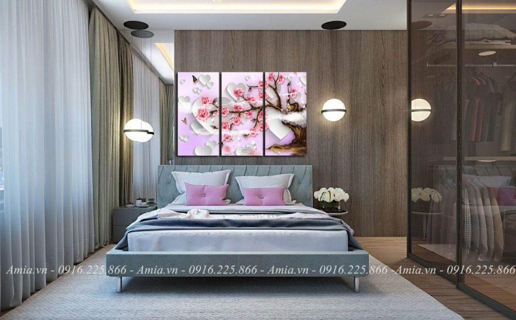 tranh treo tuong 3d hoa hong tinh yeu