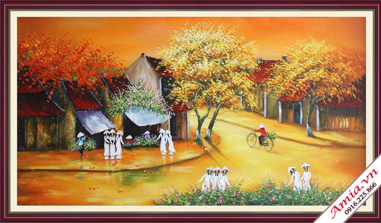 tranh son dau pho co mung tan gia cho sep