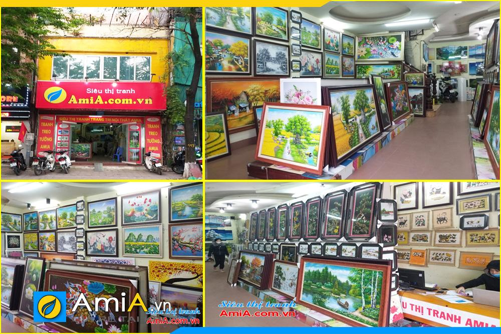 Hình ảnh cửa hàng bày bán tranh treo tường đẹp của Amia