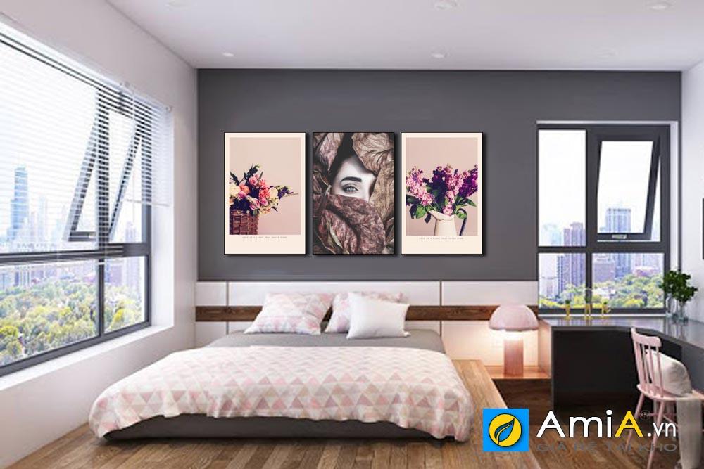 Tranh treo phòng ngủ hình cô gái nghệ thuật amia 1764
