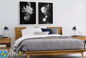 Tranh canvas hoa nghệ thuật treo phòng ngủ amia CV101