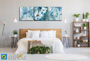 Tranh canvas nghẹ thuật treo tường phòng ngủ Amia 1616
