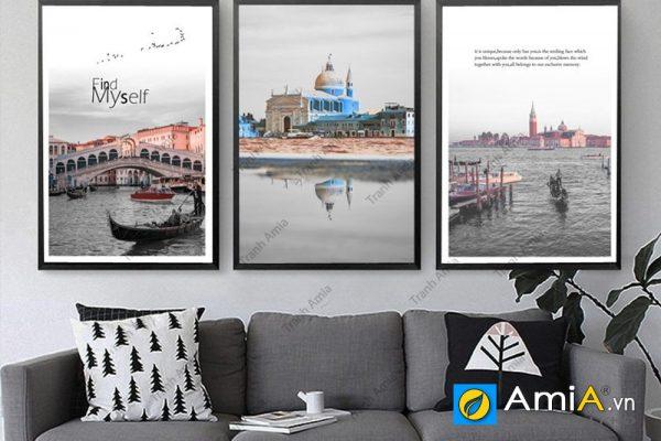 Tranh canvas phong cảnh nước ngoài đẹp treo phòng khách hiện đại amia 919113