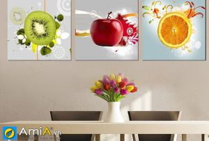 Tranh hoa quả trang trí phòng ăn đẹp amia 491