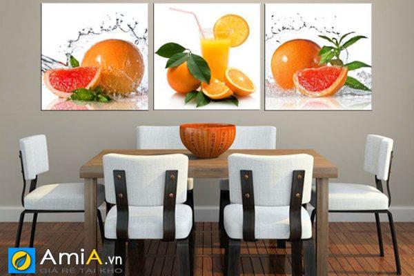 Tranh hoa quả treo phòng ăn hiện đại amia 465