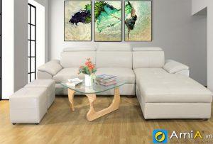 Tranh treo tường phòng khách hiện đại amia CV1005