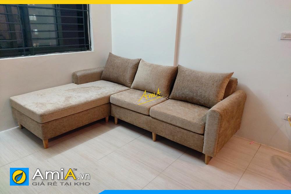 sofa góc chữ L nỉ đẹp AmiA266