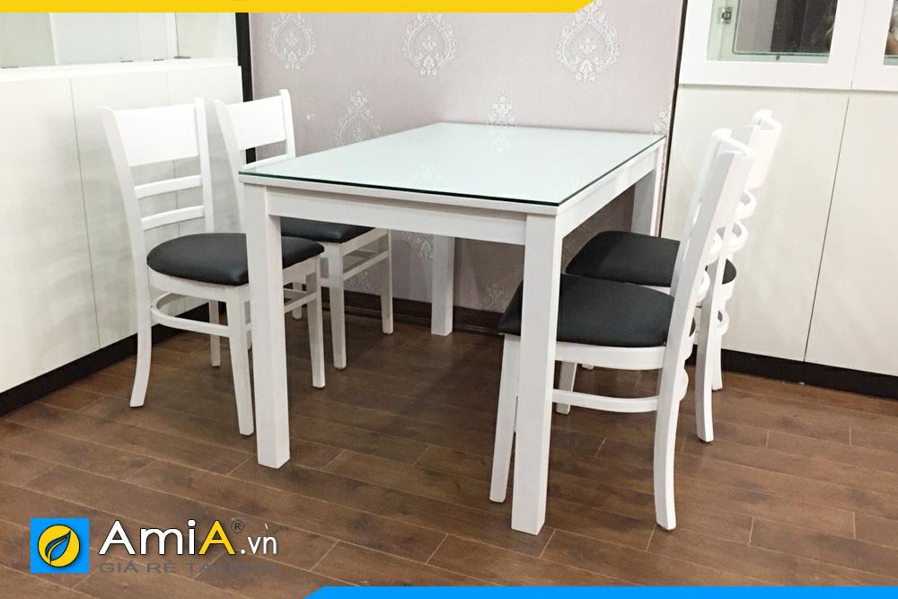 Bộ bàn ghế ăn nhỏ xinh 4 ghế