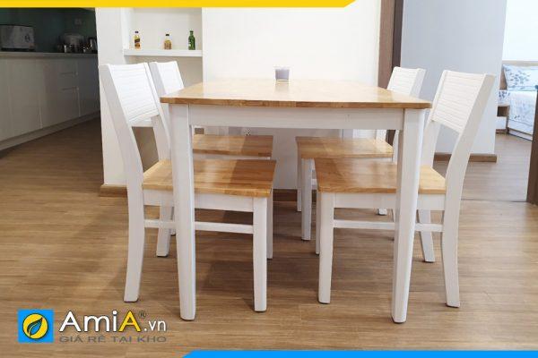 bộ bàn ăn giá rẻ bằng gỗ sồi
