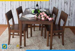 Hình ảnh bàn ăn 4 ghế đẹp BA022