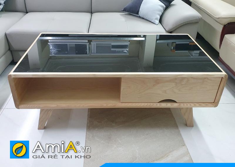 bàn trà gỗ sồi kê sofa BTR0420