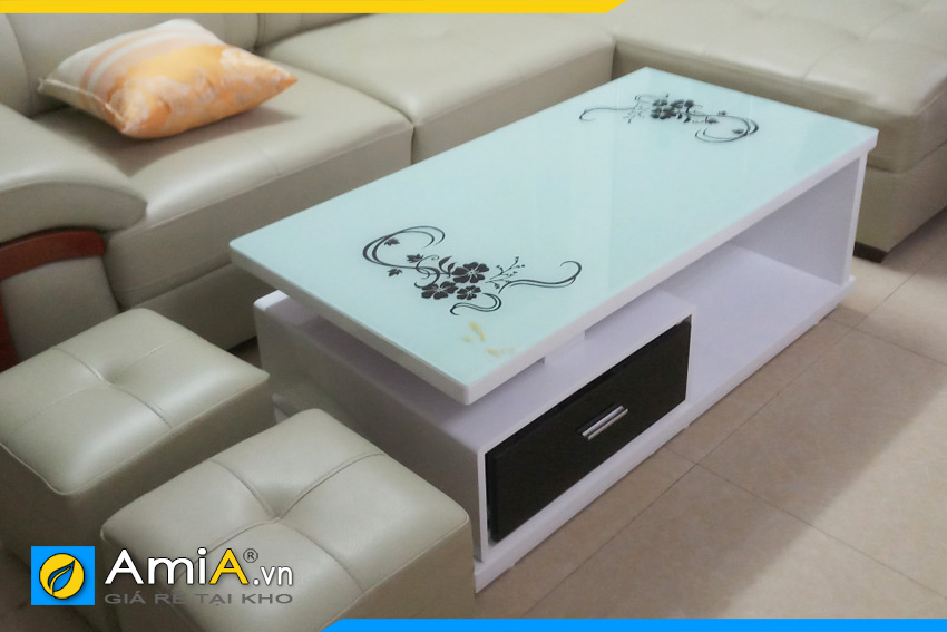 bàn sofa gỗ mặt kính giá rẻ