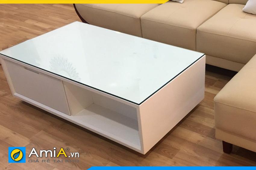 mẫu bàn trà sofa gỗ màu trắng BTR0820