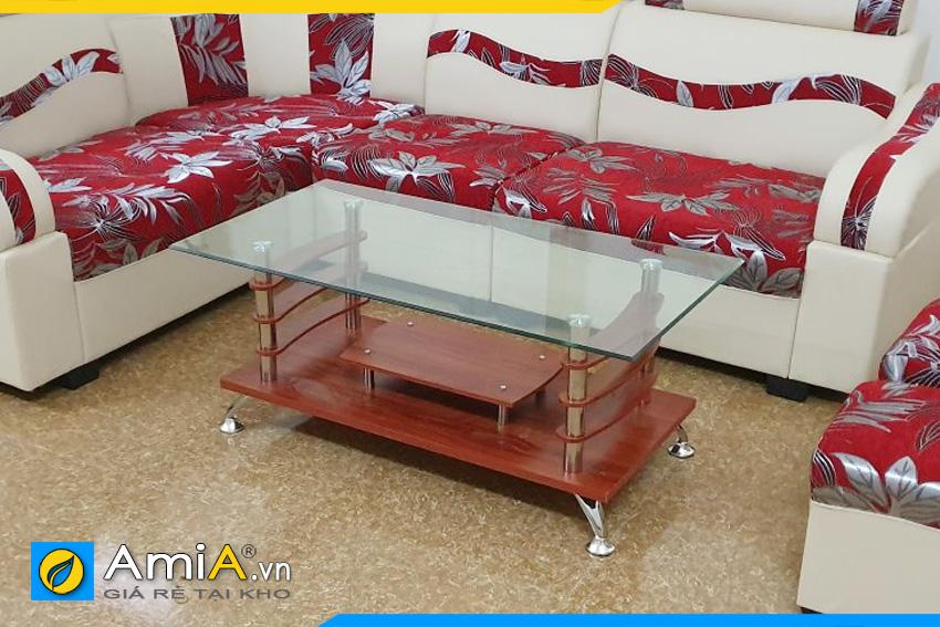bàn trà sofa kính giá rẻ nhất BTR120