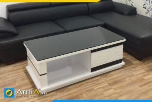 bàn trà sofa màu đen trắng BTR0320