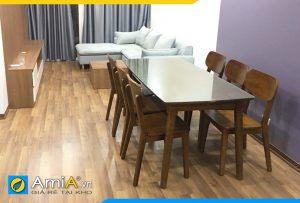 Bộ bàn và ghế ăn đẹp 6 chỗ ngồi