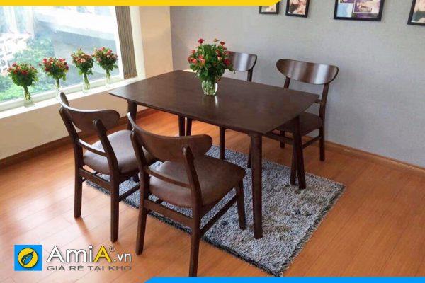 Bộ bàn ghế ăn màu nâu BA025B