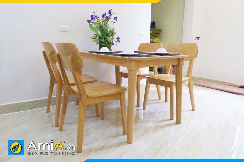 bộ bàn ăn 4 ghế nhỏ xinh BA025C
