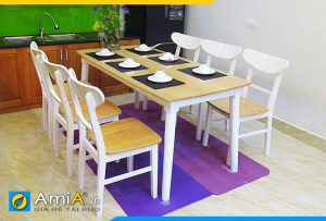 hình ảnh bàn ăn 6 ghế đẹp BA035