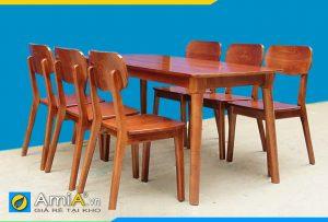 bộ bàn ăn 6 ghế gỗ sồi BA035B