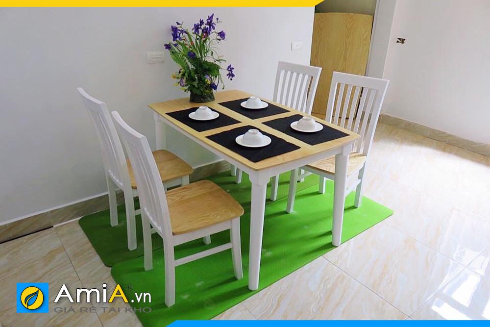 bàn ăn gỗ sồi 4 ghế BA032