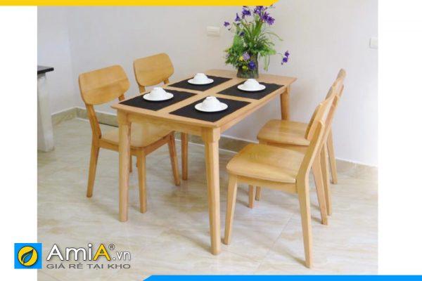 bộ bàn ăn gỗ sồi giá rẻ BA025C