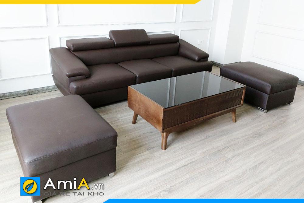 Bộ ghế sofa da đẹp cho phòng khách nhỏ