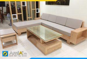 ghế sofa gỗ sồi đẹp có nệm mút