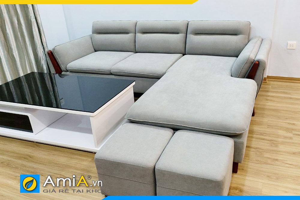 ghế sofa phòng khách chất liệu nỉ