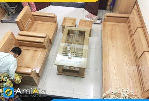 Bộ ghế sofa phòng khách bằng gỗ sồi