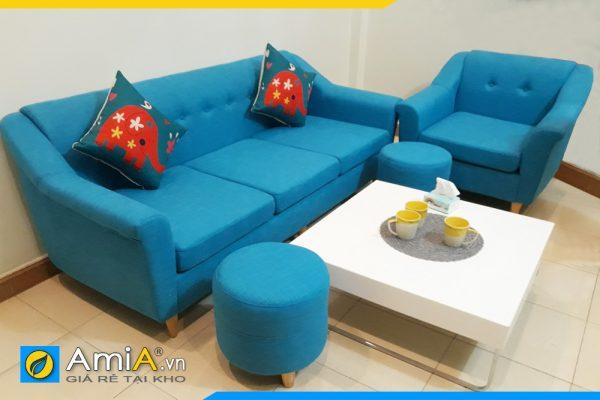 ghế sofa văng nỉ màu xanh AmiA 155A