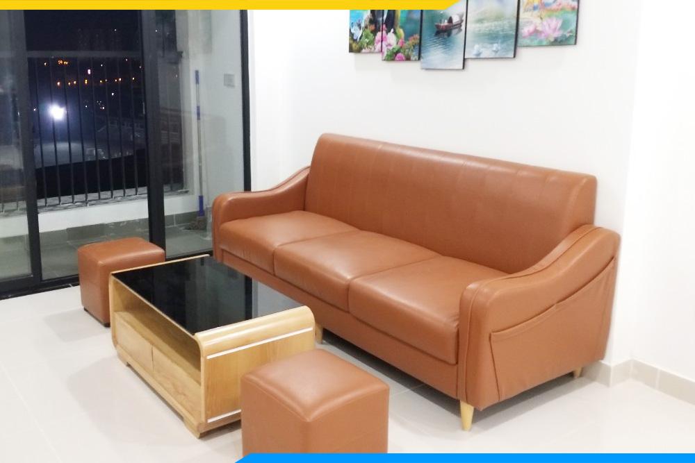 Ghế sofa da đẹp dạng văng