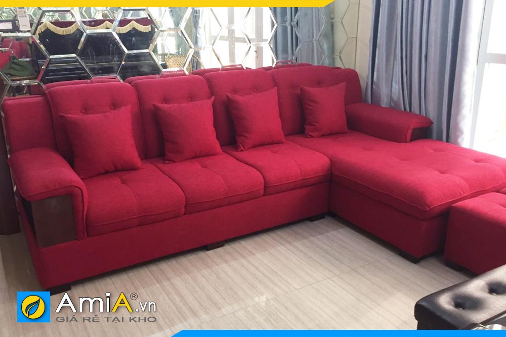 ghế sofa nỉ màu đỏ đẹp AmiA157