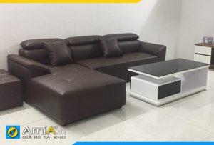 Ghế sofa da đẹp kiểu góc AmiA3320