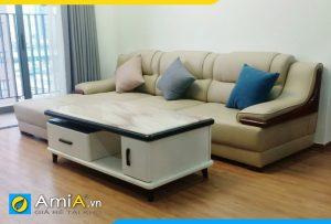 ghế sofa da đẹp sang trọng AmiA251
