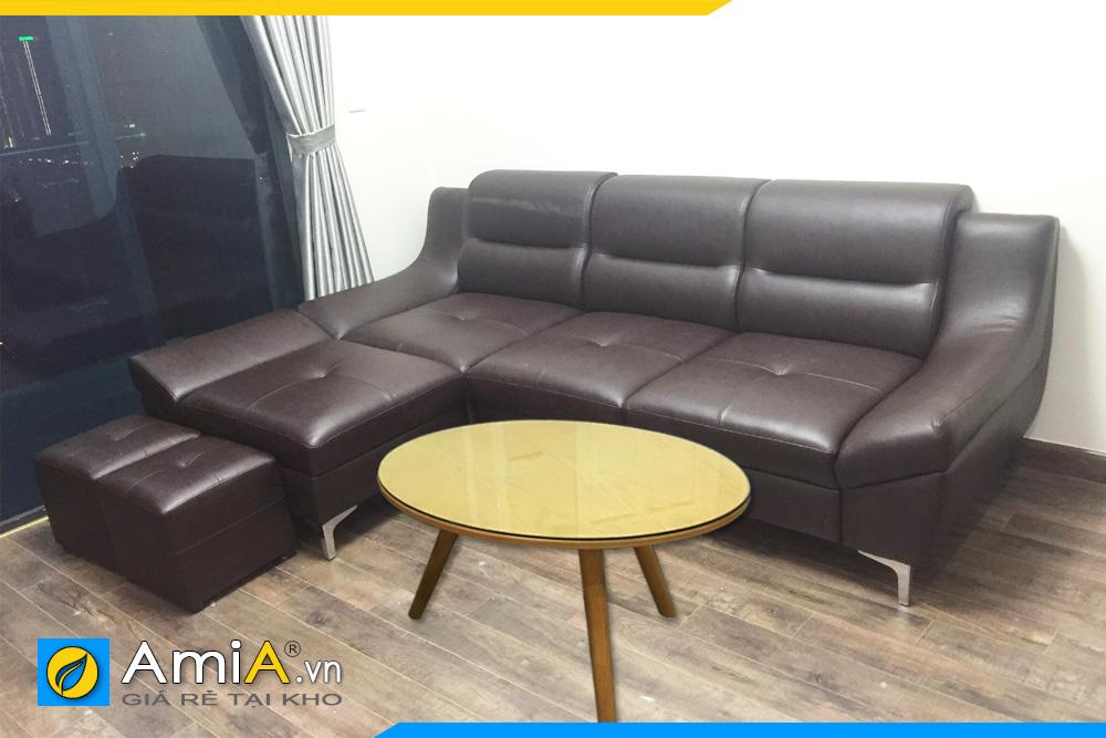 ghế sofa da đẹp nhỏ gọn mini AmiA211
